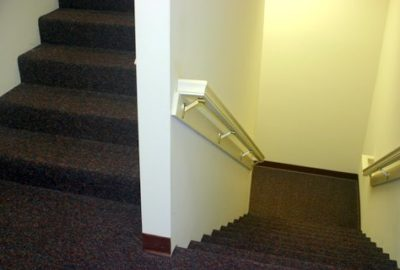 We have three nicely finished stairwells as well as an elevator for movement between floors.