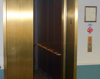 The elevator serves all three floors as well as the under building tempered parking.